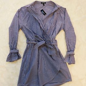 NWT Express Faux Wrap Tshirt mini Dress sz S